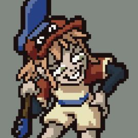 Haruko in baseball outfit.