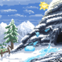 Terraria : Snow Biome in my Style.