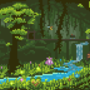 Terraria : Undeground Jungle : Environmental Pixel Fanart