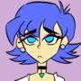 Blue Haired Girl OC