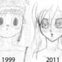 Face sketch comparison by draneas