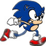 Sonic running by NasherWorld
