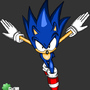 Sonic jumping at you! by Gx3RComics