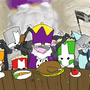 Castle Crashers Epic Dinner by xxlouisx