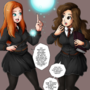 GINNY & HERMIONE PANNEL COMIC PREVIEW