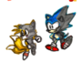 Sonic and Tails (Original & Colored)