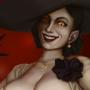 Lady Dimitrescu in a state of undress