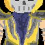 Scorpion Flaming Skull Pixel Art