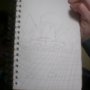 Synthwave car scene doodle