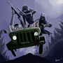 zombie patrol by Rhunyc