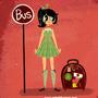 bus stop girl by PixelCake