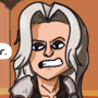 Sephiroth and Cloud have a conversation about sword length