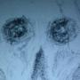 Exaggerated Blue Skull