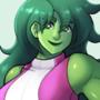 Big Green Lawyer Lady