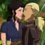 Snaibel Artemis and Zatanna share a kiss