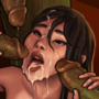 Asian Girl and Orcs Part 2 [Commission]