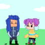 isa and kayla as a chibi