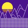 synthwave pixel landscape