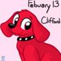Character Daily Feburary 13 - Clifford The Big Red Dog