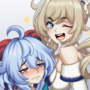 Genshin Impact - Ganyu and Barbara