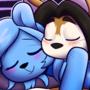 Valentines cuddling