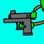 Plant with gun
