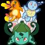 Starter Pokemon by Torogoz
