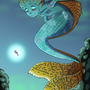Mosaic guppy mermaid by gusana
