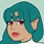 Green Haired Elf Girl
