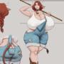 Minotaur girl commission