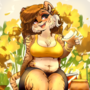 Liger in Flowers