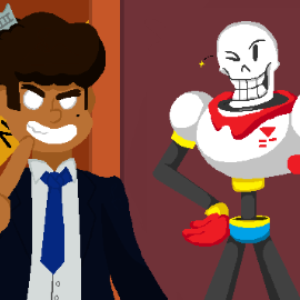 THE GREAT PAPYRUS MAKES A NEW FRIEND!!! (Art Trade)