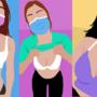 Girls in facemasks