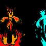 Fire N' Ice by PsychoPoptart