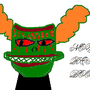 a trickster's face