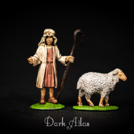 Shepherd and sheep( commission work)