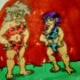 Ryoko and ayeka as cave women