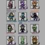 Mutual's Ocs as Gameboy Sprites