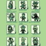 Mutual's Ocs as Gameboy Sprites. alt color