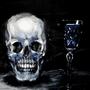 skull and glass by Hildebrandt