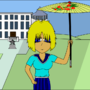 Girl with a umbrella by PiasGrann