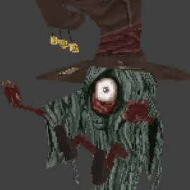 PS1 Style Hair Witch