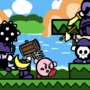 Kirby's Adventure Art (Meta-Knights Battle)