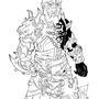 KH vs WoW - Lodur - line art