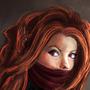 Female magic ninja by Louise-Goalby