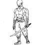 Vampire Ninja Lineart by JesusCondom