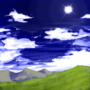 crossing the vast hills (the artwork)