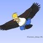 Homer the Eagle by eewawoowa