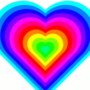 rainbow heart animation