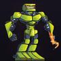 Green Robot by StickDinosaur
